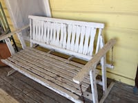 White wooden bench Rockwall, 75032