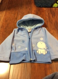 JUST REDUCED   MORE  blue jacket 9 m