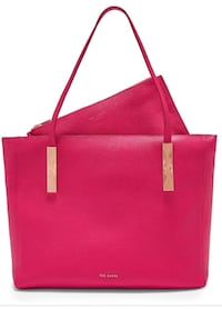 TED BAKER Fuchsia Large Zip Tote Bag