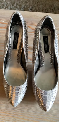 White House Black Market Silver High Heel shoes Baltimore, 21209