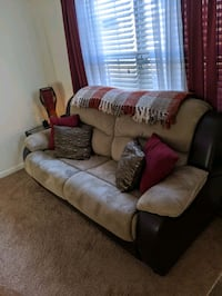 Living room set couch and pull out love seat sleeper