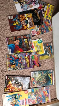 Three sets of comic books five books in the set   Each set is five dollars Fairfax, 22030