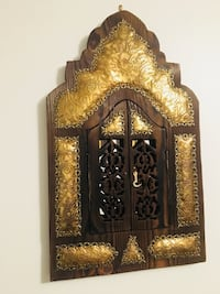 Wooden door hanging with mirrors and hand made copper  Montréal, H2A