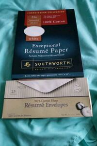 Resume papers & envelopes Silver Spring