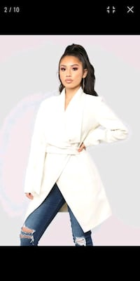 NWT Fashion Nova Manhattan Ivory Coat