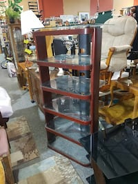 TALL GLASS MEDIA STAND. Forest Hill, 21050