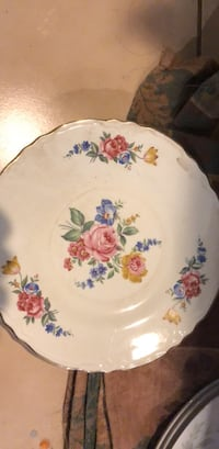 Real vintage rose plates with gold trimming out in pretty good shape I will be selling them for two dollars each Tampa, 33614