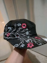 black and red floral cap Grand Junction, 81505