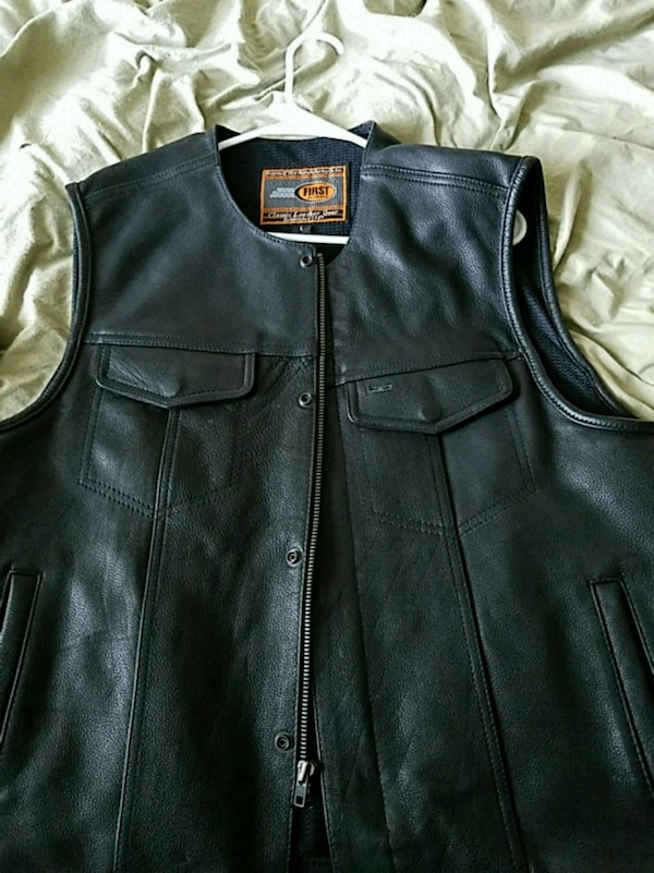 First classics brand leather vest. Never worn