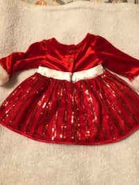 Christmas dress for baby   Size 3 months
