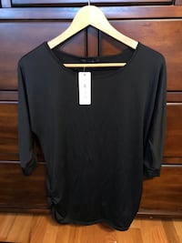 Women Black tunic size L 3/4 sleeve new top Schaumburg, 60173