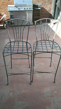 two black metal chair frame Alhambra, 91803