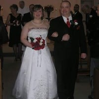Corset Red and White Wedding Dress Mississauga, L5L 5S1