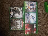 five Xbox One games negotiable  St. George, 84770