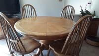 Dining Table & Buffet Cabinet - Solid Oak