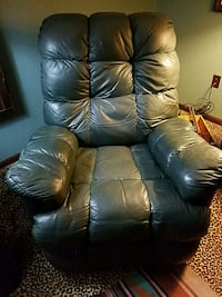 blue leather recliner sofa chair 1518 mi