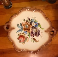 white and brown floral ceramic plate Indianapolis, 46220