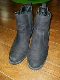 pair of black leather boots Calgary, T3J 1X6