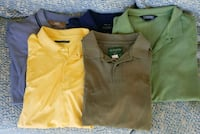 5 - Mens size XL short sleeve polo shirts... Conway, 72032