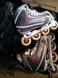 pair of gray-and-black inline skates Edmonton, T5P 3M8
