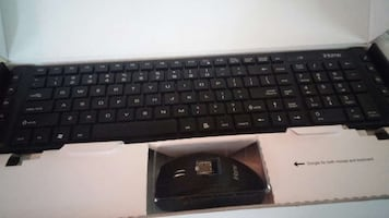 black computer keyboard with mouse