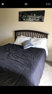 black bed sheet with pillows Beltsville, 20705