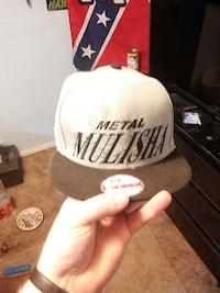 white and black Metal Mulisha fitted cap Rexburg, 83440