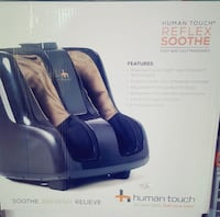 black and brown Human Touch reflex soothe foot massager box Toronto, M4H
