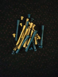blue-and-yellow plastic peg lot Barstow, 92311