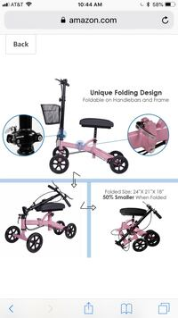 Pink knee scooter portable and brand new Fresno, 93720