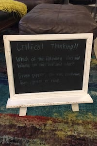 Rustic Standing Chalkboard Display Sign White Frame