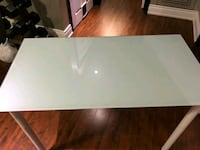 rectangular white wooden table with gray metal base Mississauga, L5L 3H1