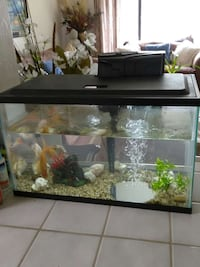 black framed clear glass fish tank Citrus Heights, 95610