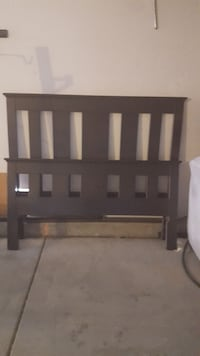 Espresso colored, full size bed frame Victorville, 92392
