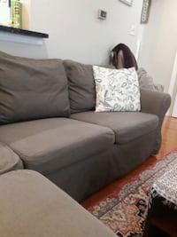 brown fabric 2-seat sofa Sterling, 20164
