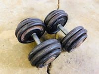 Dumbbells - 50lbs - Weights - Bench Press - Gym Equipment Woodridge