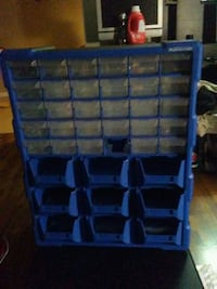blue and black plastic toy organizer Edmonton, T5G 2L1
