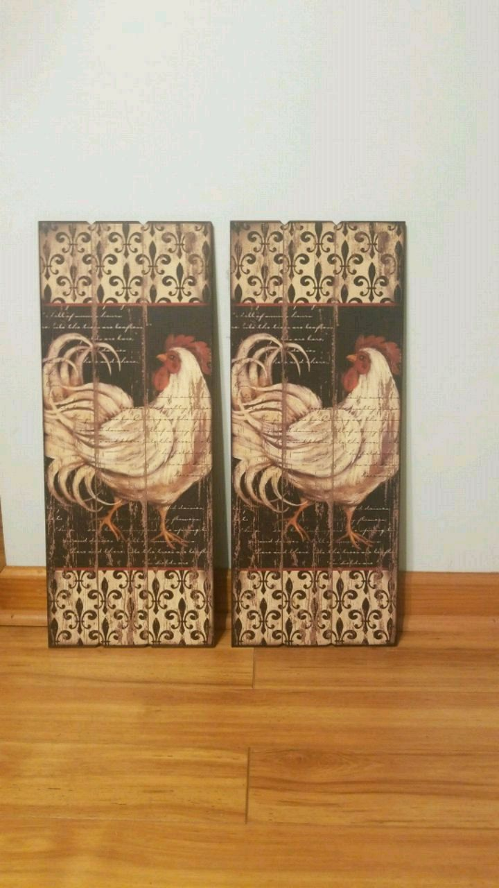 Used ROOSTER WALL COUNTRY KITCHEN WALL DECOR ART for sale in Westtown - letgo : country kitchen wall art - hauntedcathouse.org