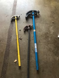 two blue and yellow fishing rods Seaford, 23696