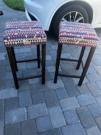 "Two bar stools. From world market. 29"" height  Melbourne, 32940"