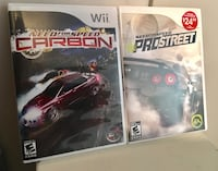 Wii 'Need for Speed/Carbon' AND 'Prostreet'  Welland, L3C