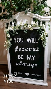 Vintage wedding chalkboard large Brandon, 33510