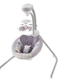 baby's white and gray cradle and swing McAllen, 78504