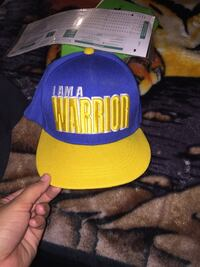 blue and yellow Golden State Warriors fitted cap Pico Rivera, 90660