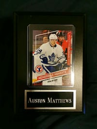 Auston Matthews card with plaque