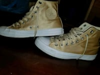 pair of gold high top converses  Charlotte, 28212