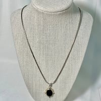 Sterling Silver Black Onyx Pendant with Sterling Rope Chain Ashburn, 20147