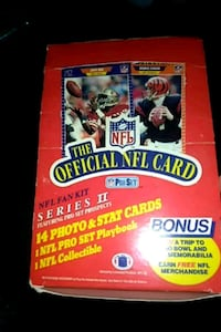 1989 nfl pro set box of cards Linthicum Heights, 21090