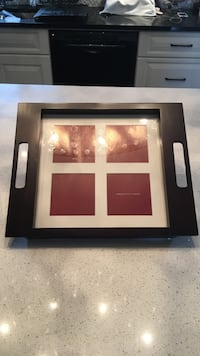 "Brown photo tray 14""X11"" holds 4 photos of 3.5"" ea. Laval, H7G"