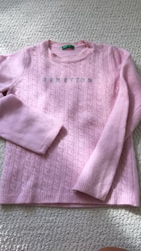 Chandail fillette BENETTON en laine rose Brossard